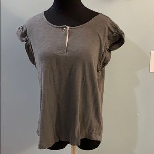 Lucky Brand sz L grey short sleeve top